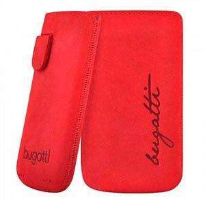Image of   Bugatti Perfect Velvety Leather luksus mobiltaske/etui - cherry læder