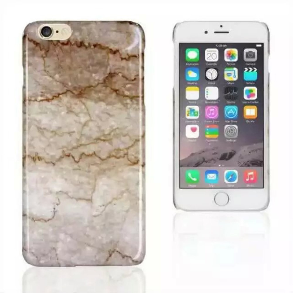 Image of   Apple iPhone 6/6s Marmor Plastik Cover - Beige