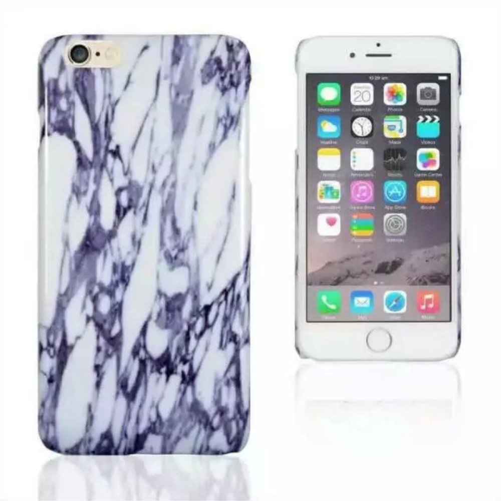 Image of Apple iPhone 6 Plus/6s Plus InCover Marmor Plastik Cover - Blå
