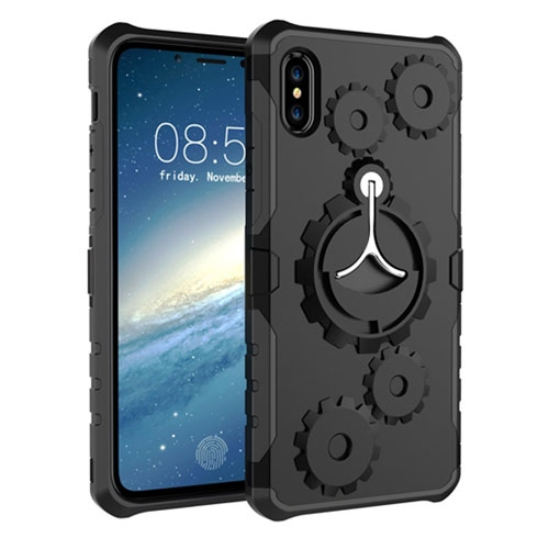 Image of   Apple iPhone X/XS 2 i 1 Hybrid Cover m. Sportsarmbånd - Sort