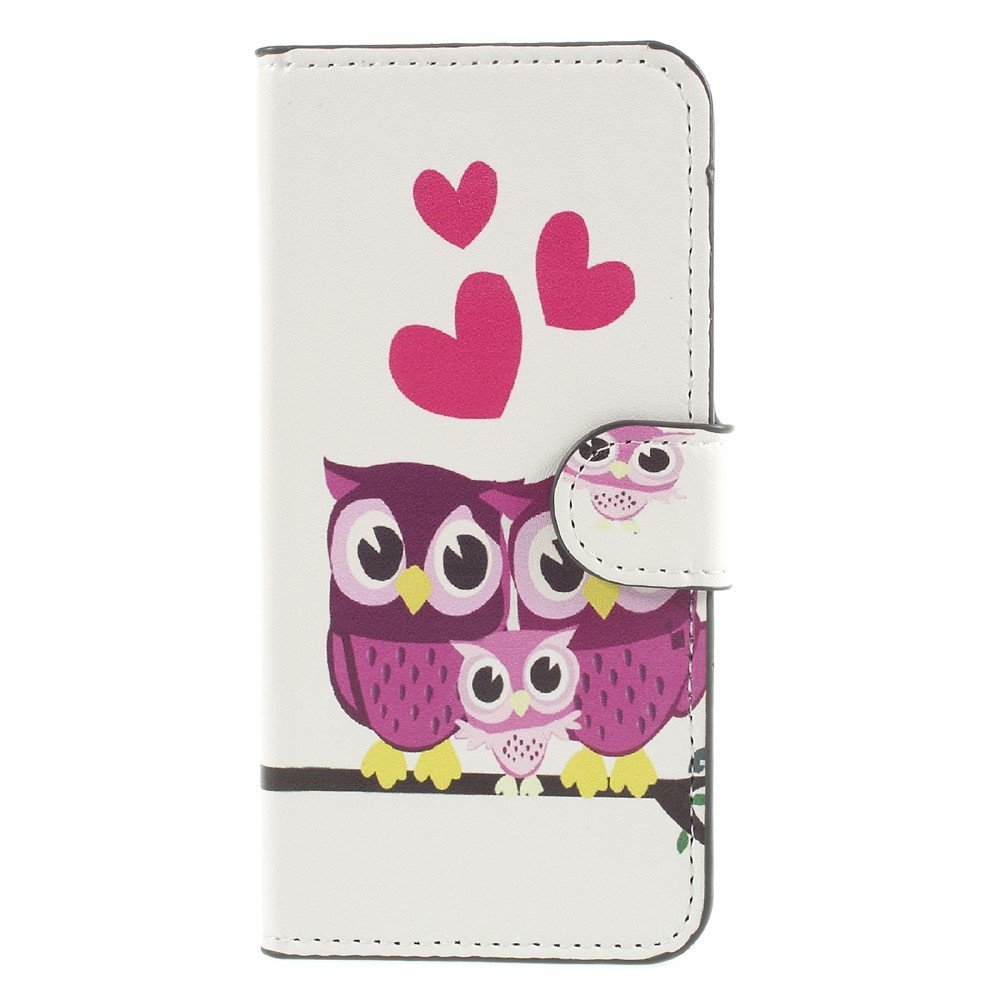 Image of Apple iPhone 8 Design Flip Cover med Pung - Owl Family