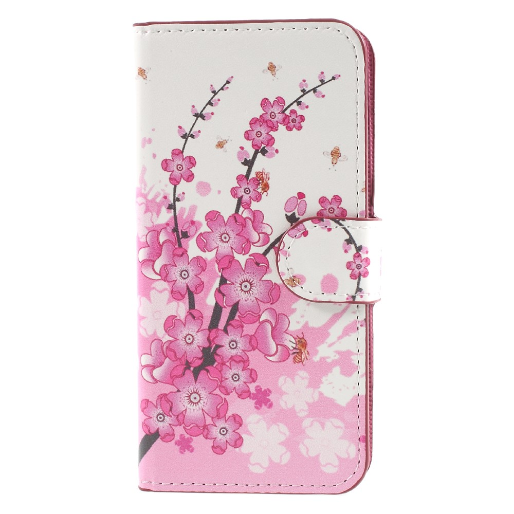 Image of Apple iPhone 8 Design Flip Cover med Pung - Plum Blossom