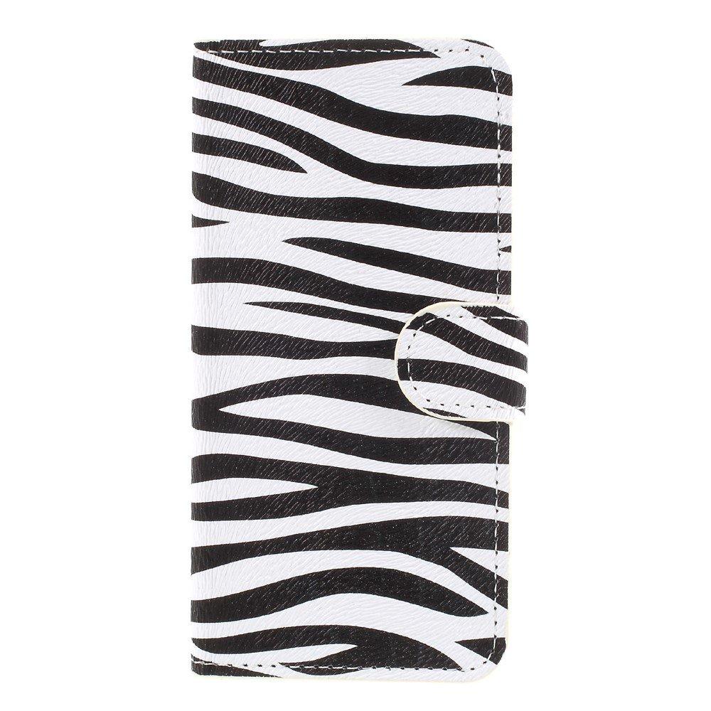 Apple iPhone 8 Design Flip Cover med Pung - Zebra