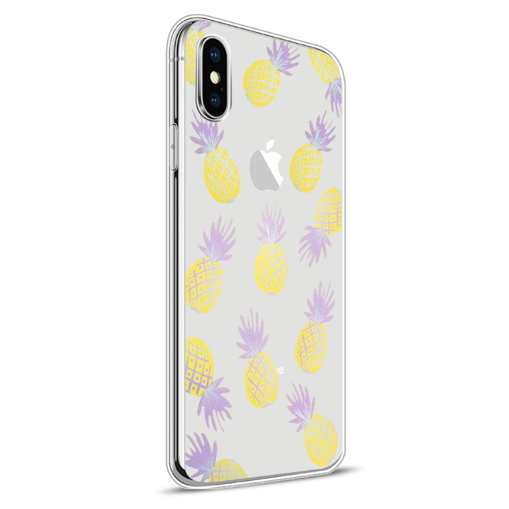 Image of   Apple iPhone X Design TPU Cover - Ananas 2