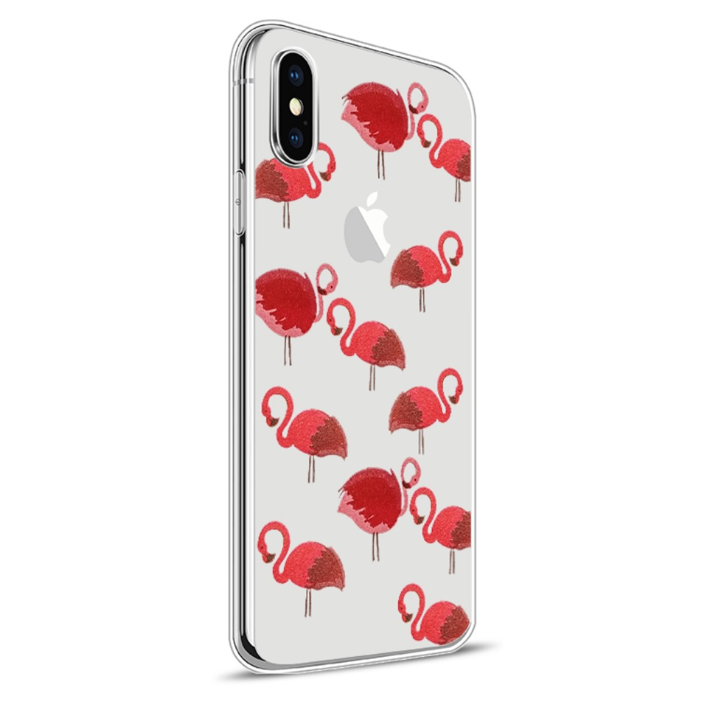 Image of   Apple iPhone X inCover Design TPU Cover - Flamingo 1