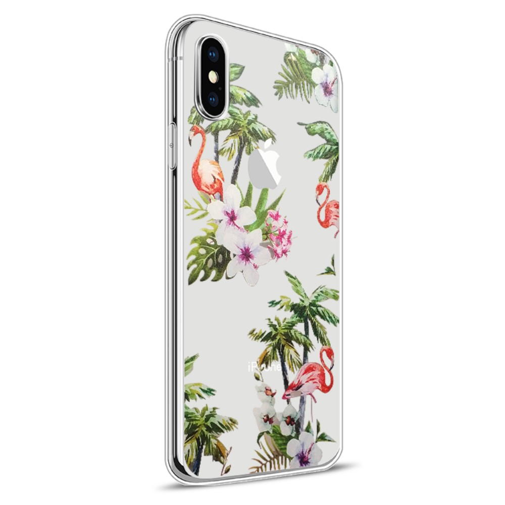 Image of   Apple iPhone X inCover Design TPU Cover - Flamingo 2
