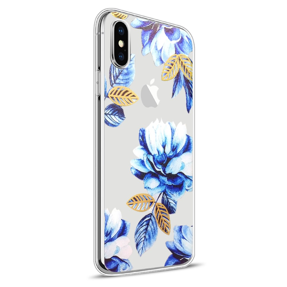 Image of   Apple iPhone X Design TPU Cover - Blomst 1