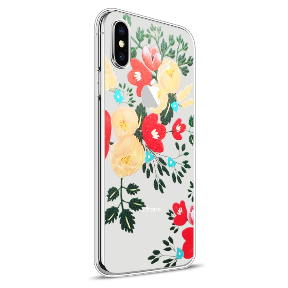 Image of   Apple iPhone X Design TPU Cover - Blomst 2