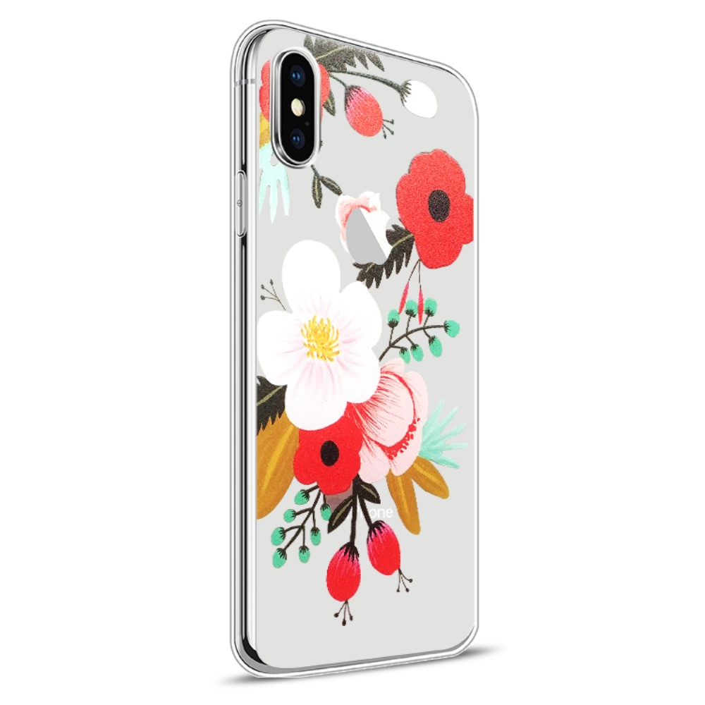 Image of   Apple iPhone X Design TPU Cover - Blomst 3