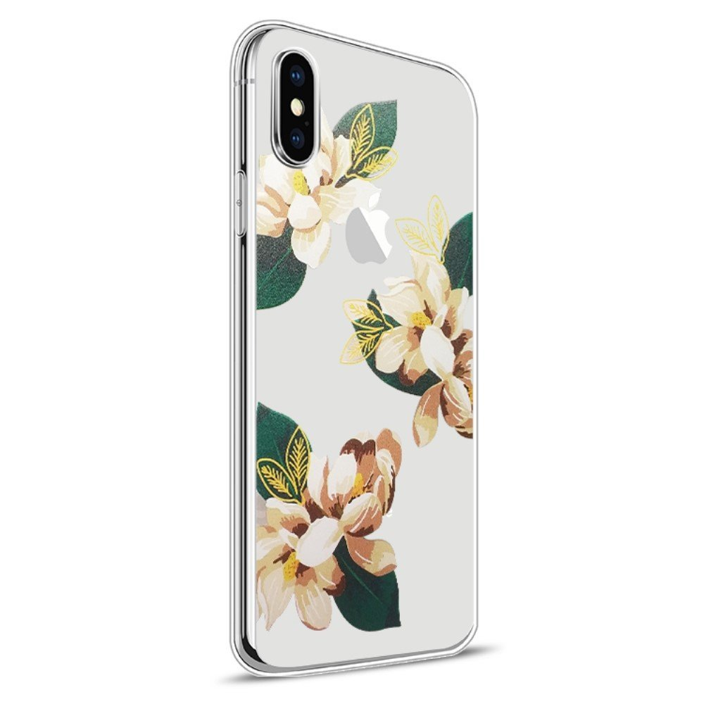 Image of   Apple iPhone X Design TPU Cover - Blomst 4
