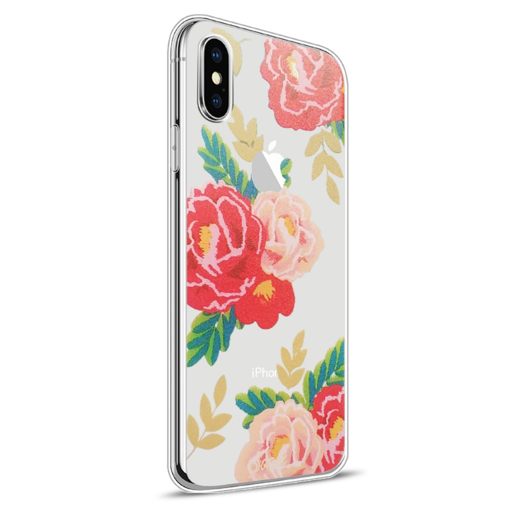 Image of   Apple iPhone X Design TPU Cover - Blomst 5