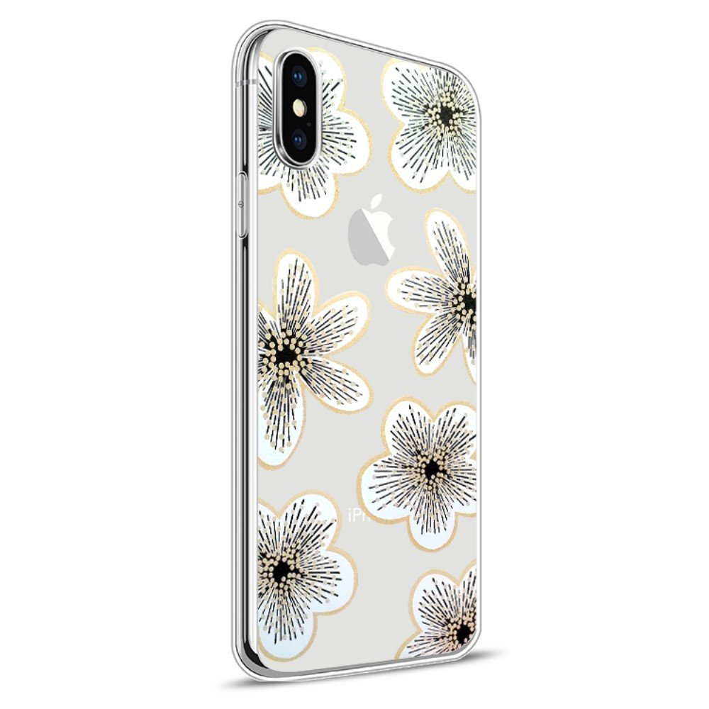 Image of   Apple iPhone X Design TPU Cover - Blomst 6