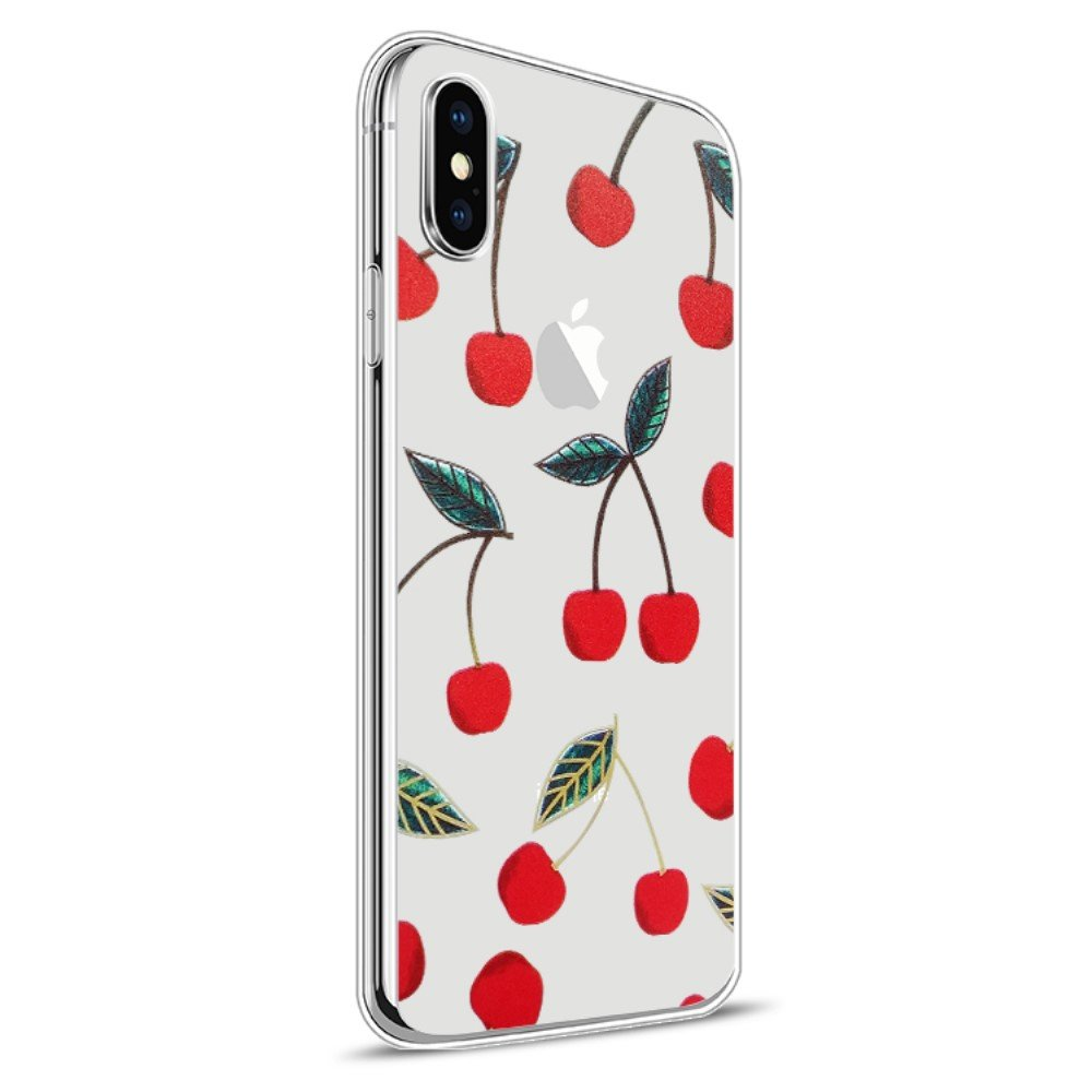 Image of   Apple iPhone X Design TPU Cover - Kirsebær