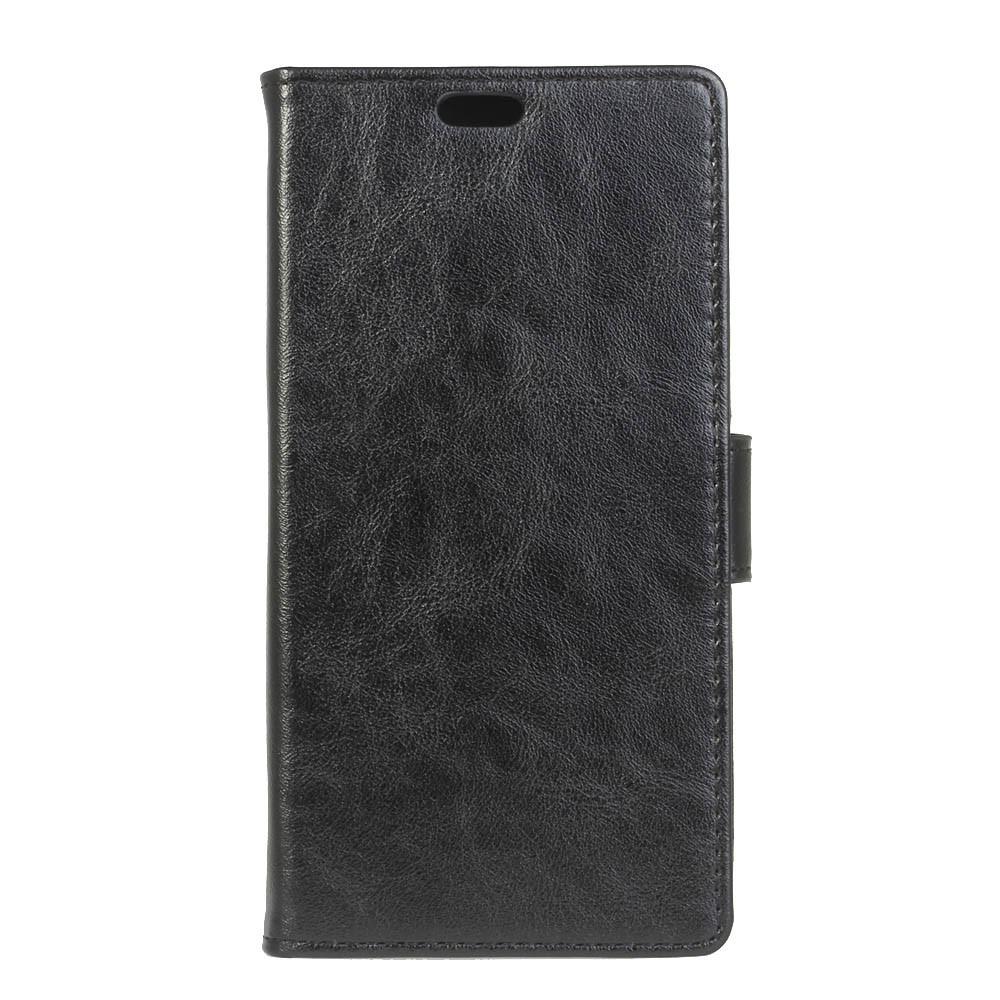 Apple iPhone Xs Max PU Læder Flip Cover m. Stand og Kortholder - Sort