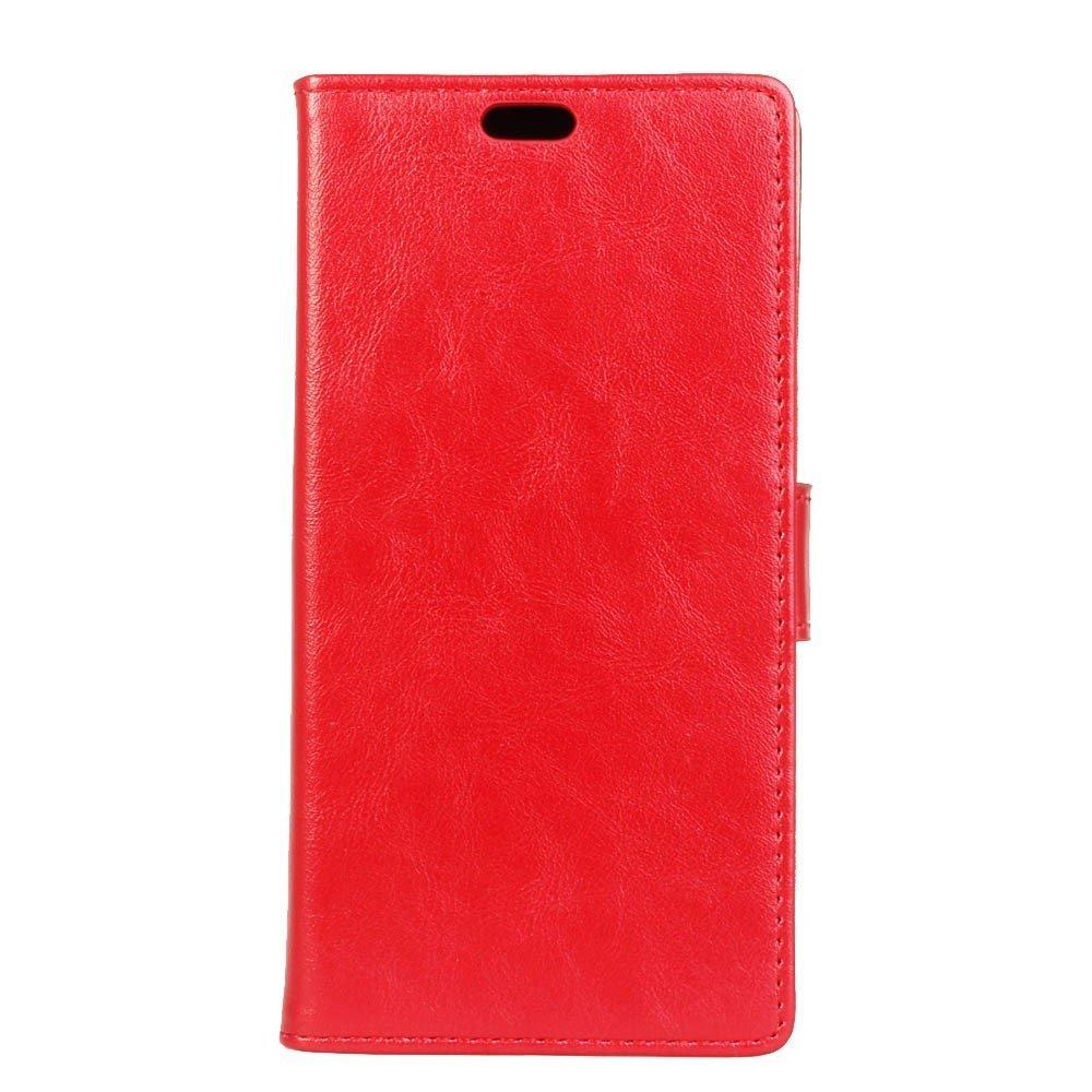 Apple iPhone Xs Max PU Læder Flip Cover m. Stand og Kortholder - Rød