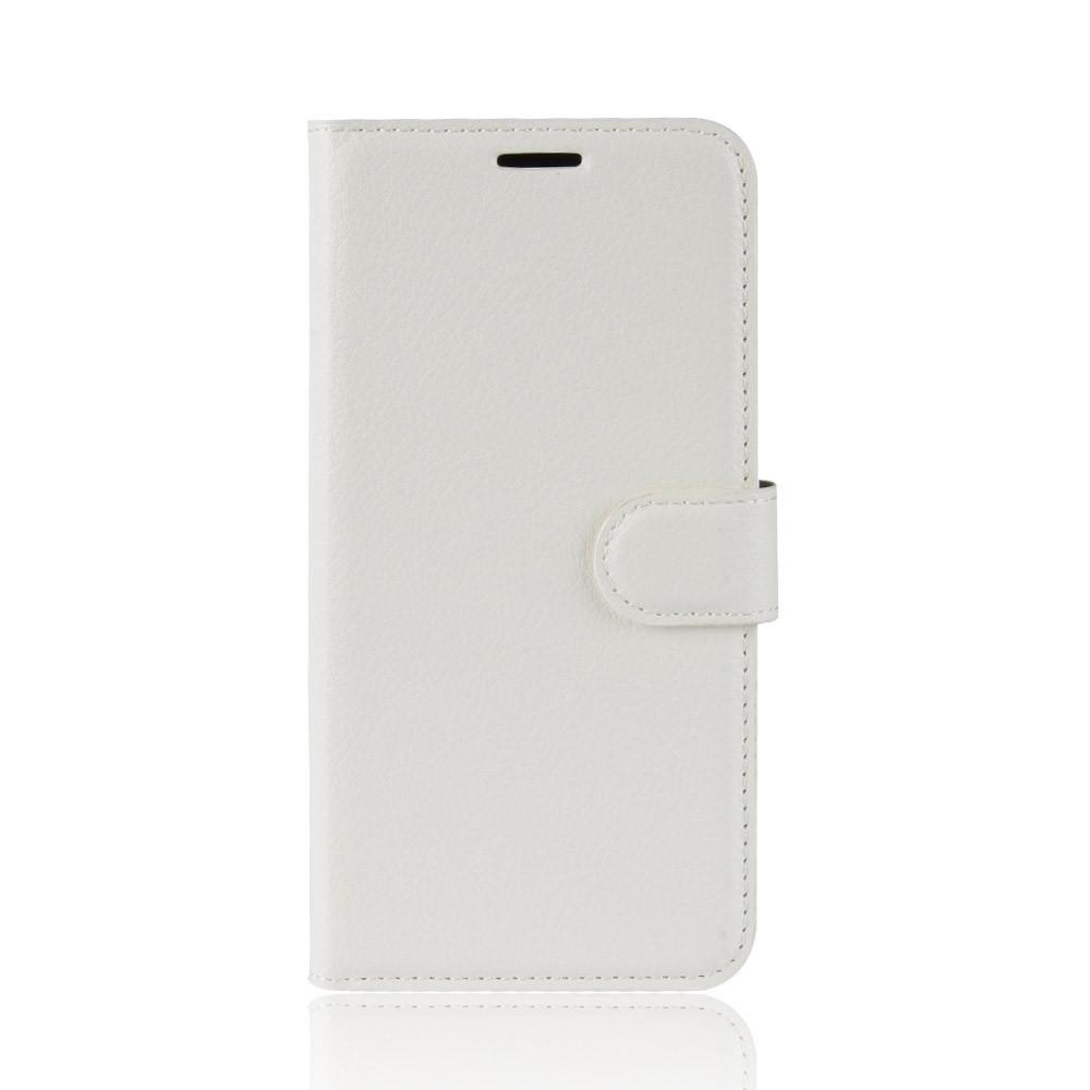 Image of   Apple iPhone XR Litchi PU Læder Flip Cover m. Stand og Kortholder - Hvid