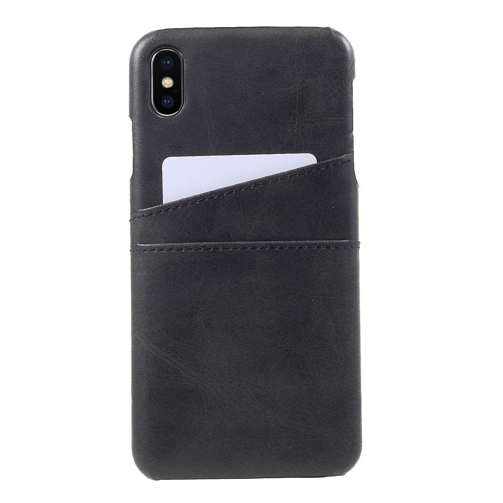 Apple iPhone Xs Max PU Læder Cover m. Kortholder - Sort