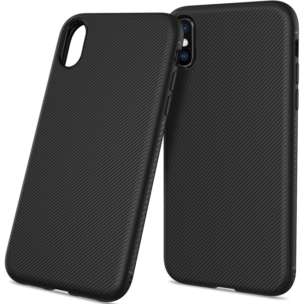 Apple iPhone Xs Max Silikone Cover - Sort