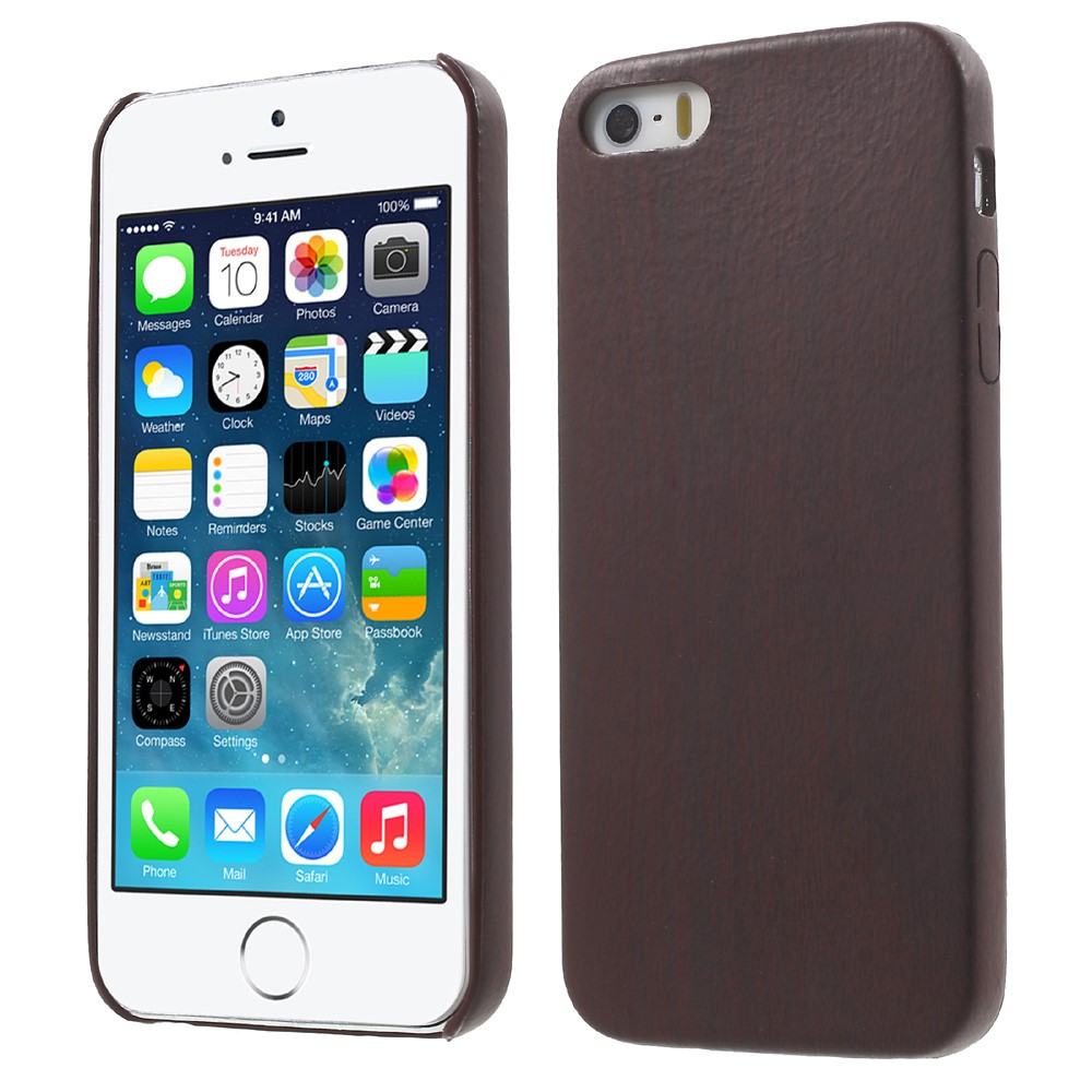 Image of Apple iPhone 5/5s/SE InCover PU Læder TræCover - Coffee