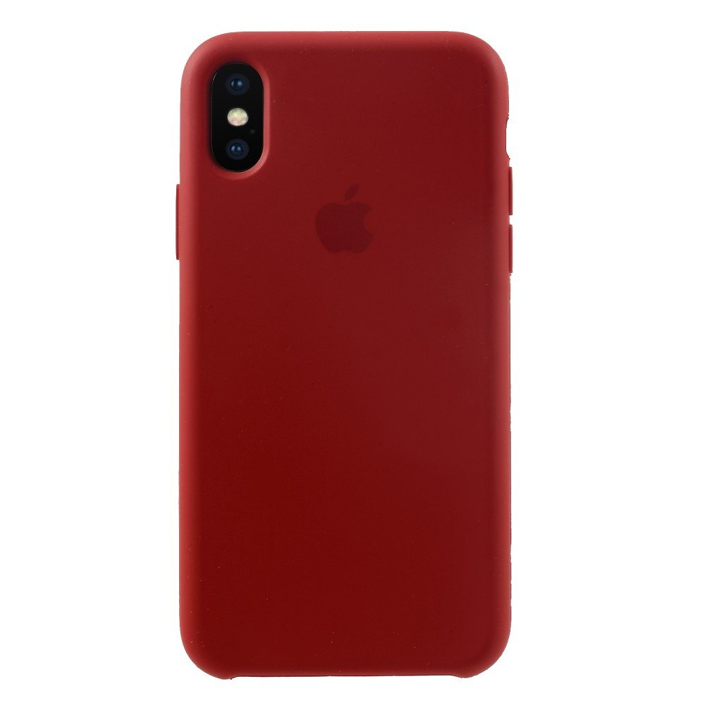 Image of   Apple iPhone X/XS Solid Silikone Cover - Rød