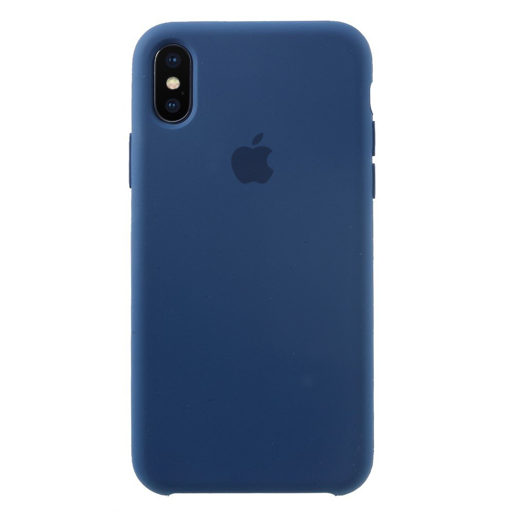 Image of   Apple iPhone X/XS Solid Silikone Cover - Blå