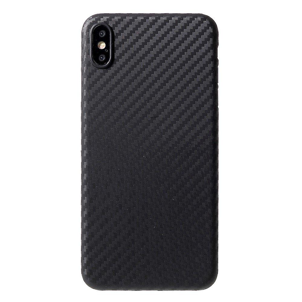 Image of   Apple iPhone Xs Max Carbon Plastik Cover - Sort