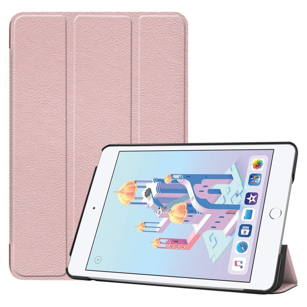 Image of   Apple iPad Mini 2019 Læder Cover m. Ståfunktion - Rose Gold