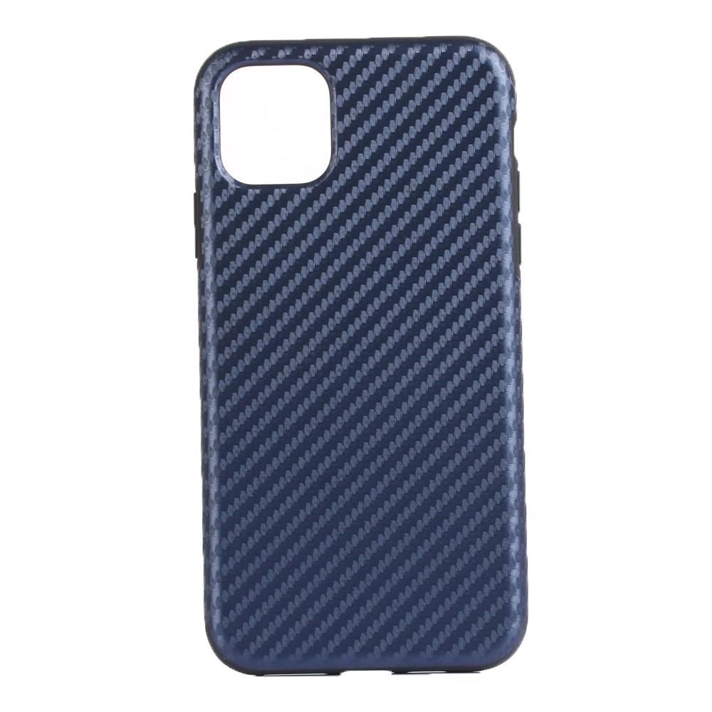 Image of   Apple iPhone 11 Pro Læderbetrukket Carbon Cover - Mørkeblå