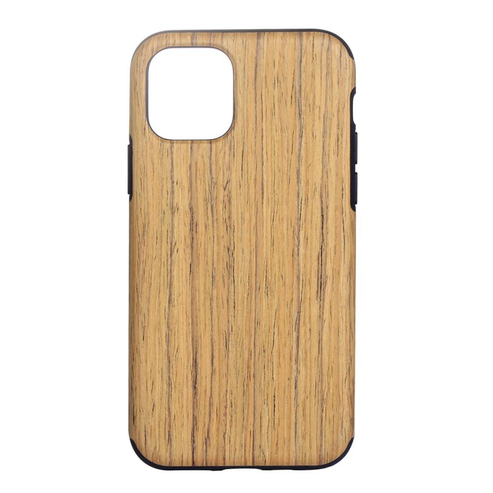 Image of   Apple iPhone 11 Læderbelagt cover med Træ Tekstur - Lyst Træ