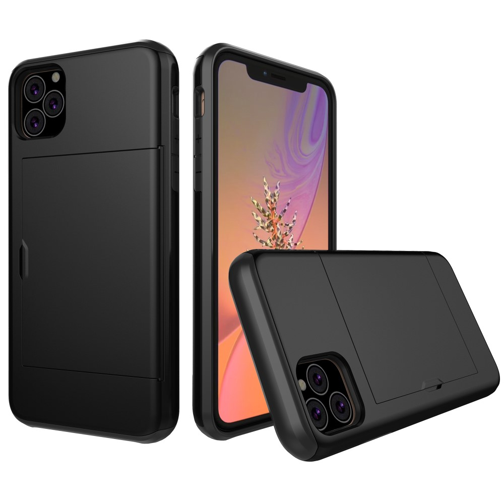 Image of   Apple iPhone 11 Pro Hårdt Plastik Cover m. Kortholder - Sort