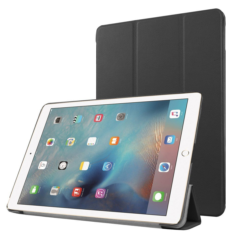 Image of Apple iPad Pro 9,7 Læder Smart Cover Stand - Sort