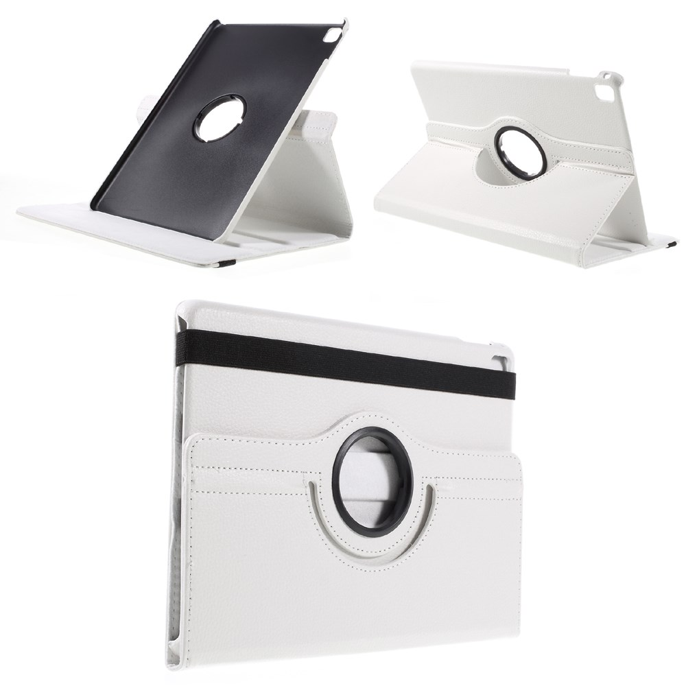 Image of Apple iPad Pro 9,7 Rotating Litchi Smart Cover Stand - Hvid