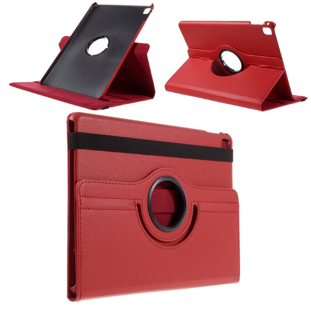 Apple iPad Pro 9,7 Rotating Litchi Smart Cover Stand - Rød