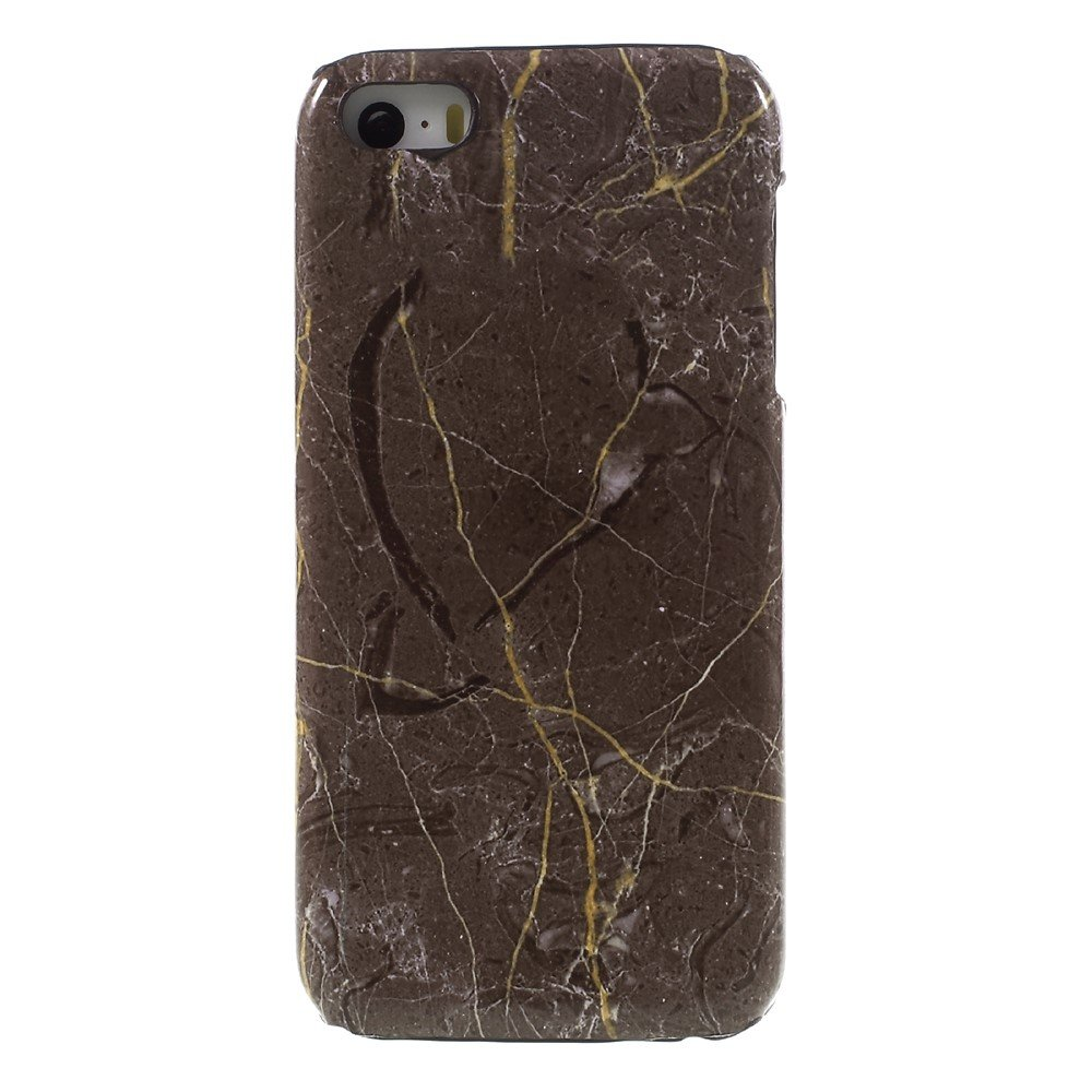 Image of   Apple iPhone 5/5s/SE Marmor Plastik Cover - Brun