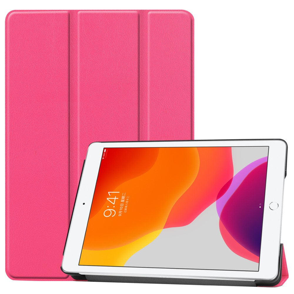 "Image of   Apple iPad 10.2"" (2019) Læder Flip Cover m. Stand - Pink"