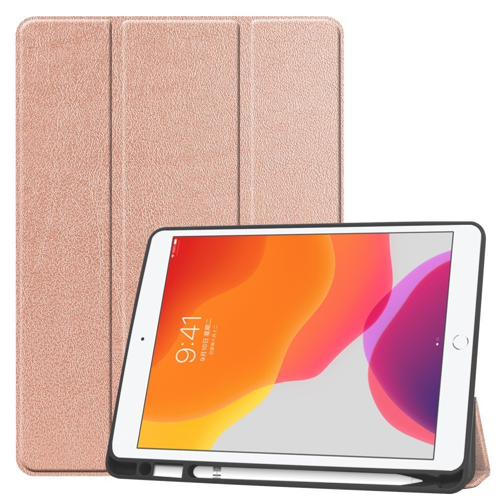 "Image of Apple iPad 10.2"" (2019) Flip Cover m. Holder Til Apple Pencil - Rose Gold"