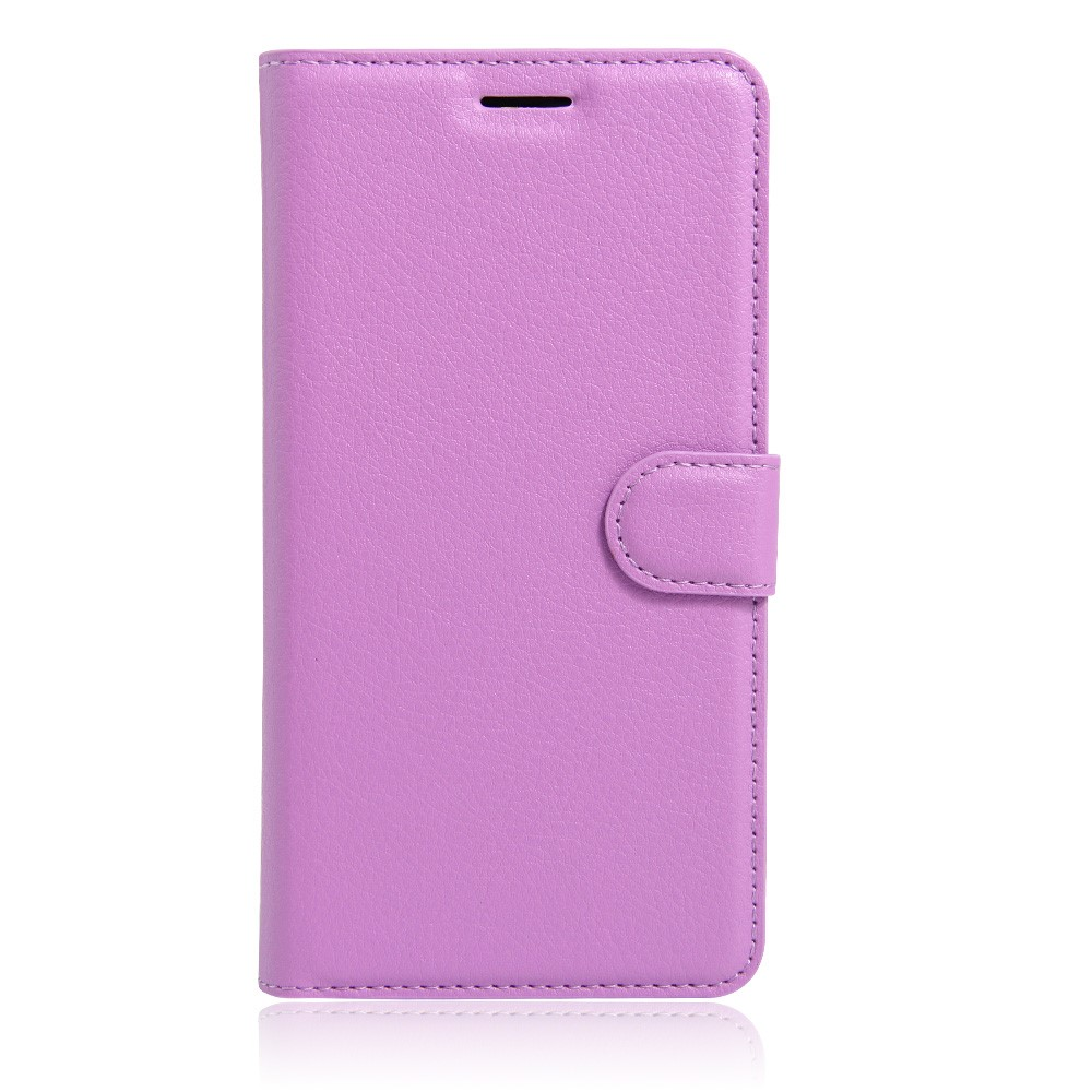 Image of   Apple iPhone 7/8 Litchi FlipCover m. Kortholder - Lilla