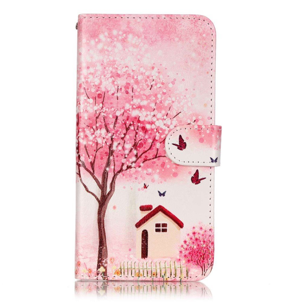 Billede af Apple iPhone 7/8 Plus PU læder FlipCover m. Kortholder - Tree and House