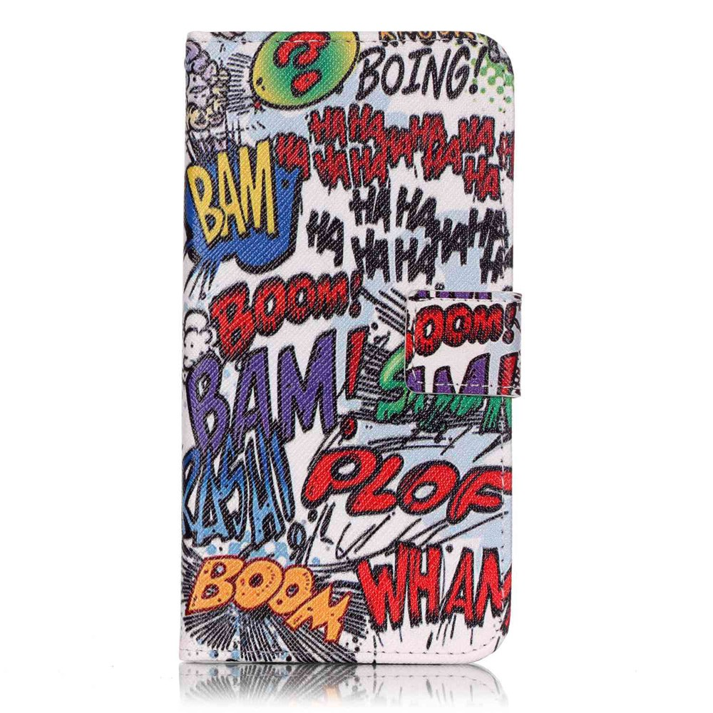 Image of   Apple iPhone 7/8 Plus PU læder FlipCover m. Kortholder - Boom Bam