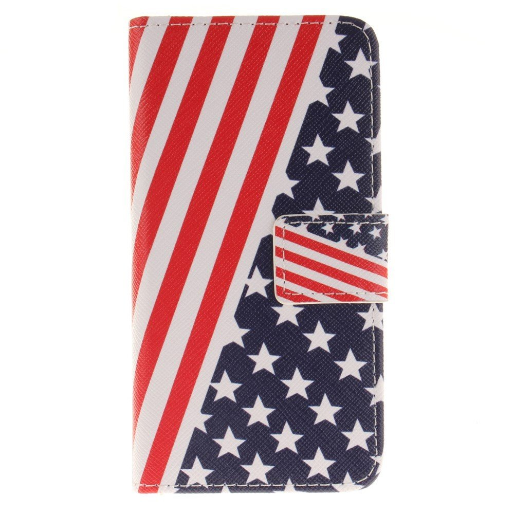 Image of   Apple iPhone 7/8 PU læder FlipCover m. Kortholder - Stars and Stripes