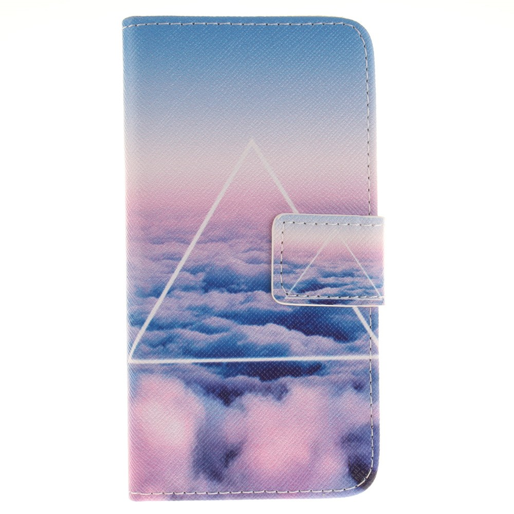 Image of   Apple iPhone 7/8 PU læder FlipCover m. Kortholder - Triangles and Clouds