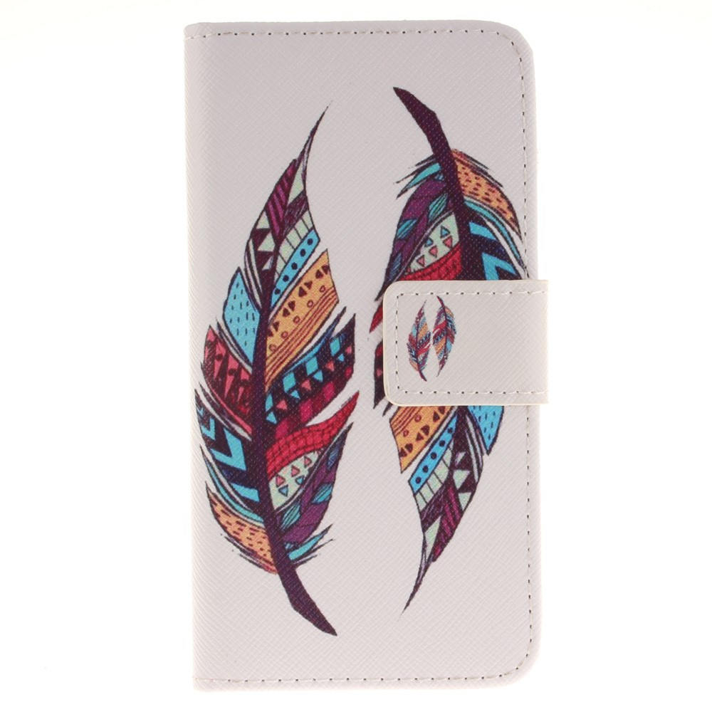 Image of   Apple iPhone 7/8 PU læder FlipCover m. Kortholder - Colorful Feathers