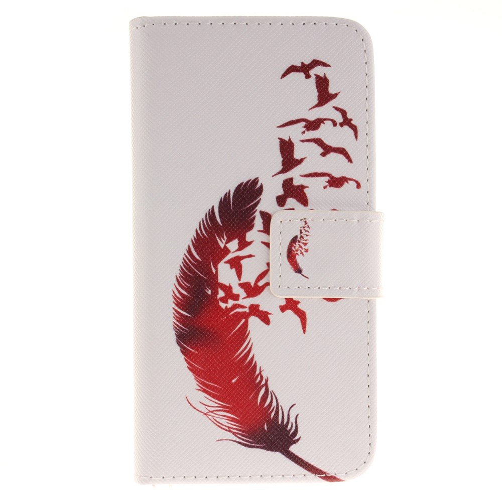 Image of   Apple iPhone 7/8 PU læder FlipCover m. Kortholder - Feather Birds
