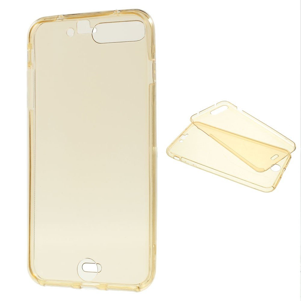 Image of   Apple iPhone 7/8 Plus TPU For- og bagcover - Guld