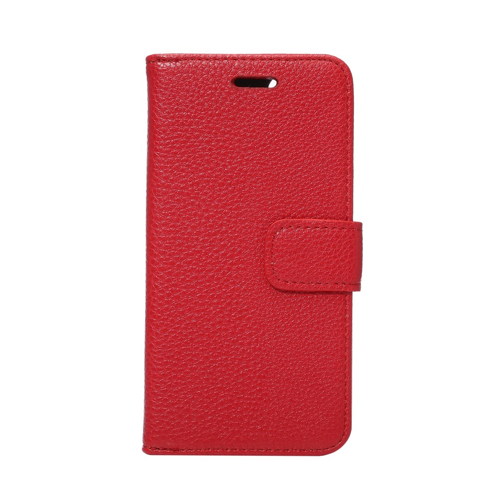 Image of   Apple iPhone 7 Litchi Flip Cover Med Pung - Rød