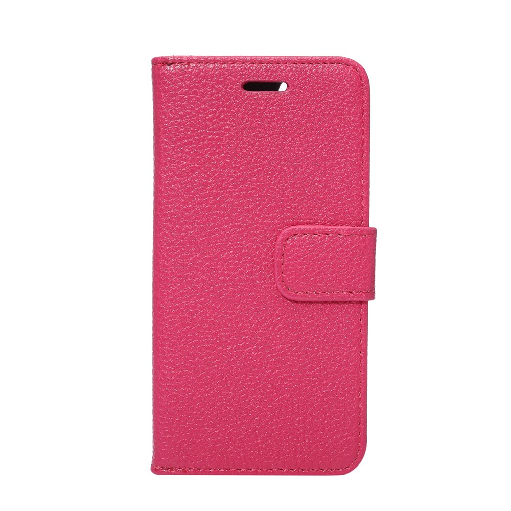 Image of   Apple iPhone 7 Litchi Flip Cover Med Pung - Rosa