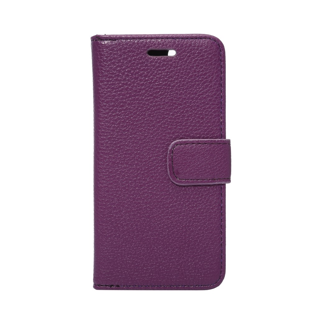 Image of   Apple iPhone 7 Litchi Flip Cover Med Pung - Lilla