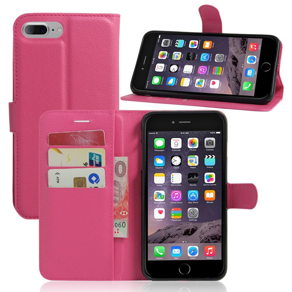 Image of   Apple iPhone 7/8 Plus PU læder FlipCover m. Pung - Rosa