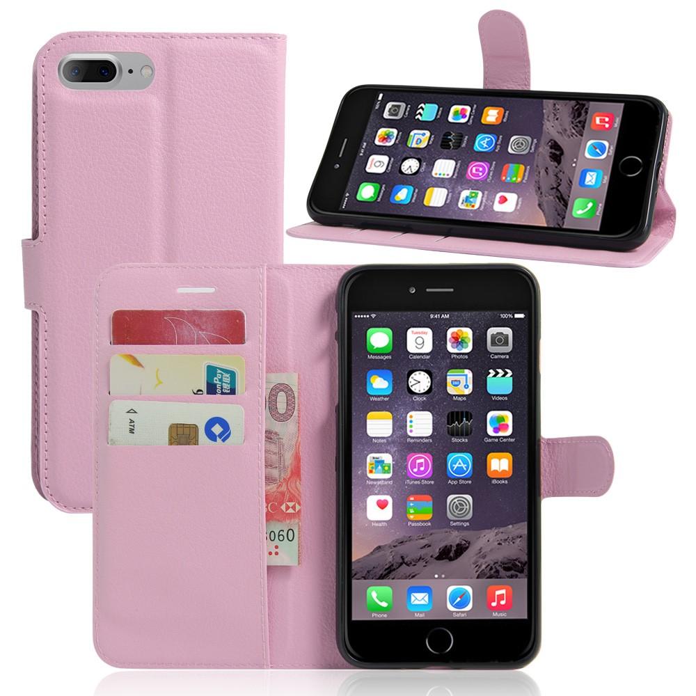Image of   Apple iPhone 7/8 Plus PU læder FlipCover m. Pung - Pink