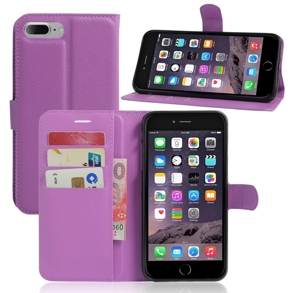 Image of   Apple iPhone 7/8 Plus PU læder FlipCover m. Pung - Lilla